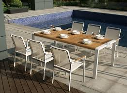 Ensemble table chaise exterieur - veranda-styledevie.fr