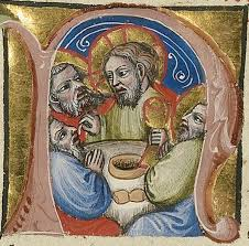 initial n the last supper between 1389 and 1404 master of the brussels