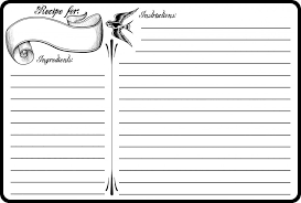Index Card Recipe Template Free Printable Recipe Card Template 4 X 6 Printable Recipe