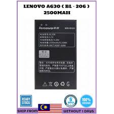 ORIGINAL LENOVO A630 BL206 BATTERY ...