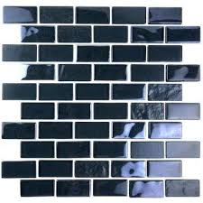 landscape black translucent 10 75 in x 10 125 in x 6 35mm glass mosaic tile