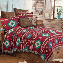 red southwestern quilts