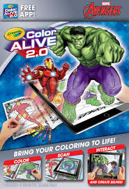 This video is about hulks superheroes coloring book pages. Crayola Color Alive 20 Avengers Coloring Book Set With App 16 Pages Walmart Com Walmart Com