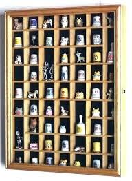 miniature display shelf thimble case cabinet wall rack gold plat
