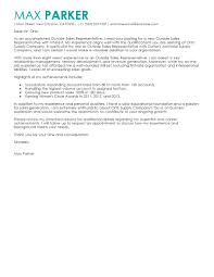 Best Outside S Representative Cover Letter Examples Livecareer