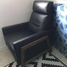 west elm spencer leather recliner