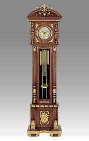 brown wooden grandfather clocks with gold accent for home furniture ideas
