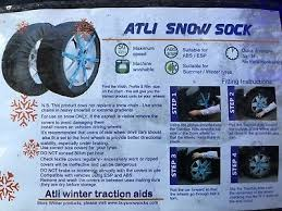 Snow Socks Size Chart Alti Car Tyre Snow Socks Kb18 For 13 To 17 Ich Tyres See