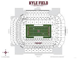 Tamu Football Seating Chart Texas A M Stadium Map Texas Map