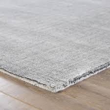 jaipur living kismet handmade solid light gray area rug