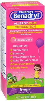 benadryl d children s allergy and sinus liquid g 4 oz 300450170057