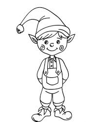 Cute Christmas Elf Coloring Pages | Christmas Coloring pages of ...