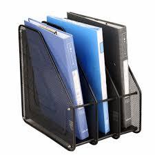 Metal Mesh Desktop Basket Resume File Folder Holders Detachable