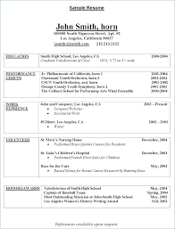 College Resume Samples For High School Senior – Lespa