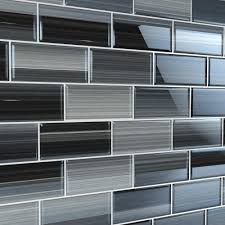 A wide variety of tile glass backsplash options are available to you, such as graphic design, total solution for projects. Bodesi Late Night 3 In X 6 In Glass Tile For Kitchen Backsplash And Showers 10 Sq Ft Per Box Hpt Ln 3x6 The Home Depot