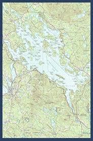 Amazon Com Lake Winnipesaukee New Hampshire Map Only