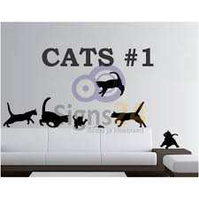 cats silhouette decals nr 1 self adhesive wall decoration stickers