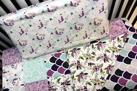 mermaid fitted sheet purple c teal crib sheet baby girl crib bedding nautical