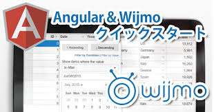 Create a Quick-Start Application with Angular and Wijmo