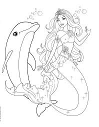 Small Picture Barbie Mermaid Coloring Pages Coloring Page For Kids Kids Coloring