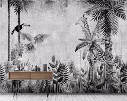 <b>Beibehang</b> Custom <b>wallpaper mural medieval</b> hand painted tropical ...