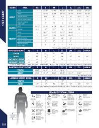 Kobe Sportswear Size Chart Carrier