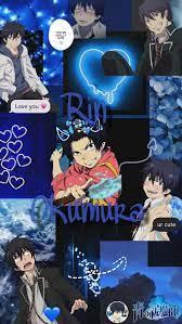 Rin Okumura, aesthetic, anime, blue ...