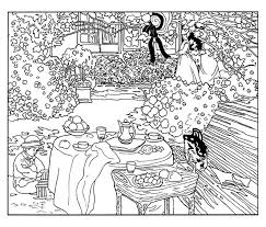 Small Picture Monet painting Art Coloring pages for adults JustColor