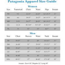 Patagonia Child Size Chart Up To Date Patagonia Wader Sizing Chart 6pm Patagonia Mens