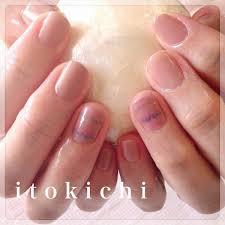 ベージュ系ピンク系シンプルネイル福岡市中央区のネイル爪のお手入れ