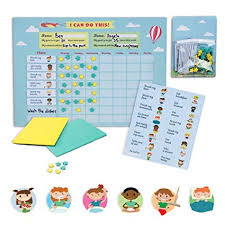 Mamig Responsibility Chore Chart For Kids Premium Quality Magnetic Achievement Chore Chart Board For 2 Children Colorful Bulletin Magnet Board