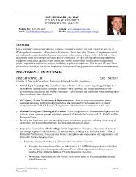 clinical manager resume by bob michalik j d rac resume march2016 fda  regulatory quality - Medical Device
