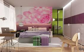 Cute Teenage Girl Bedroom Ideas With White Curtains And Beautiful Floral  Wall Art Also Using Modern Interior Ideas As Well Sliding Wardrobe Design