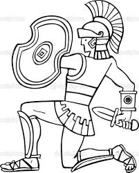 Roman Soldier Colouring Sheet With Roman Legionary Soldier Coloring