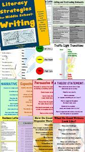 best images about sixies writing anchor charts middle school students are still learning how to write well and they need strategies these