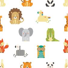 Retro Zoo - papel pintado personalizado y de alta calidad - Photowall