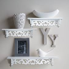 set of 3 floating wall shelves great for books or collections add design and