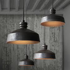 ceramic and rusted iron inside pendant lighti