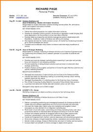 Client Profile Template Awesome Resume Profile Examples Customer