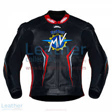 mv agusta 2017 motorcycle leather jacket front