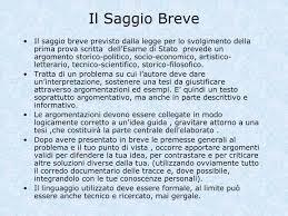 Saggio Breve Ppt Il Saggio Breve Powerpoint Presentation Id 1123808