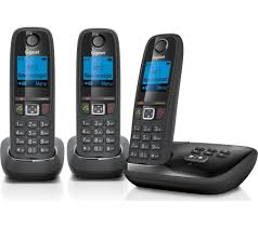 gigaset al415a cordless phone with answering machine triple handsets