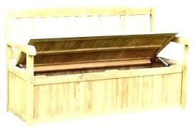 outdoor wicker storage bench wing