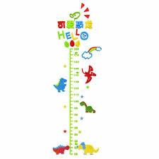Acrylic Kids Wall Sticker 3d Dinosaur Growth Chart Ruler Wall Decor Childs Room Decoration