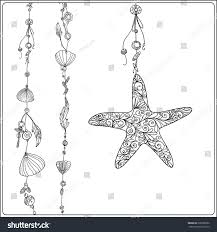 Small Picture Adult Coloring Page Sea Star Sea Stock Vector 396388582 Shutterstock
