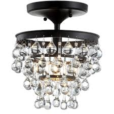 Ceiling Lights Toronto Jonathan Y Toronto 10 In Oil Rubbed Bronze Metal Crystal