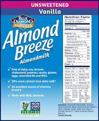 almond breeze dairy free almondmilk unsweetened vanilla 32 ounce bo pack of 12 amazon grocery gourmet food