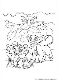 Small Picture Lion King Coloring Page Corresponsablesco