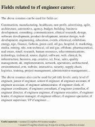 Wimax Engineer Sample Resume Enchanting Rf Engineer Resume Sample Impressive Top Rf Engineer Resume Samples