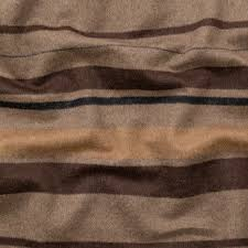 italian heathered fossil black and taupe barcode striped wool woven